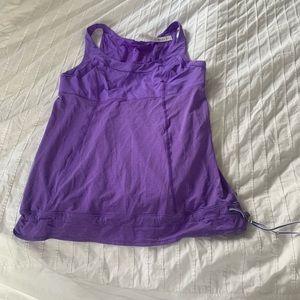 Lululemon purple tank with drawstring